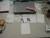 田辺先生の机