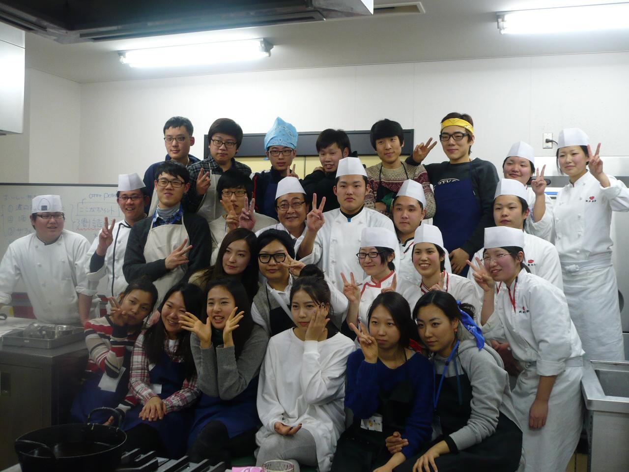 韓国留学生 日本料理体験実習